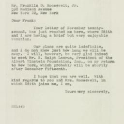Letter : 1946 November 26