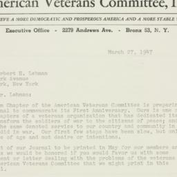 Letter : 1947 March 27