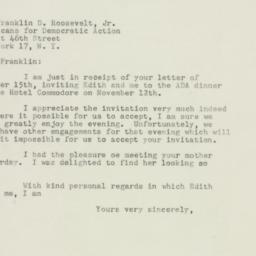 Letter : 1947 October 16