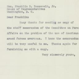 Letter : 1951 February 23