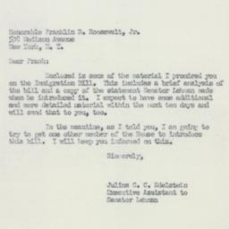Letter : 1951 December 8