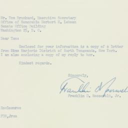 Letter : 1954 February 17