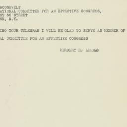 Telegram : 1948 October 5