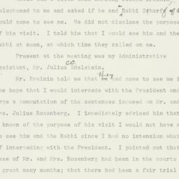 Memorandum : 1953 January 5