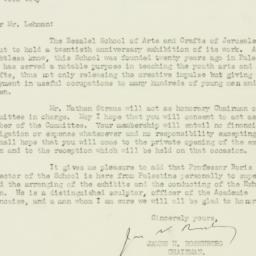 Letter : 1926 February 8