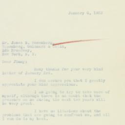 Letter : 1933 January 6