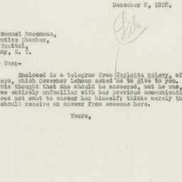 Letter : 1929 December 8
