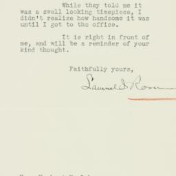 Letter : 1933 April 22