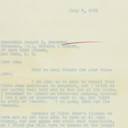 Letter : 1933 July 7