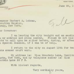 Letter : 1934 June 29