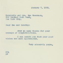 Letter : 1935 January 7