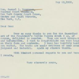 Letter : 1938 May 23