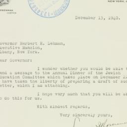 Letter : 1940 December 13