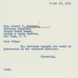 Letter : 1941 March 27