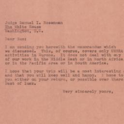 Letter : 1945 February 8