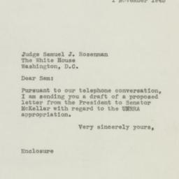 Letter : 1945 November 1