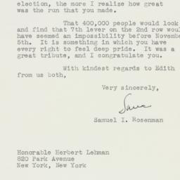 Letter : 1946 November 8