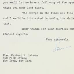 Letter : 1947 November 17