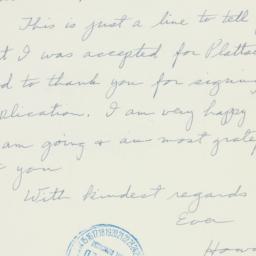 Letter : 1940 July 2