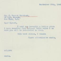 Letter : 1940 September 30