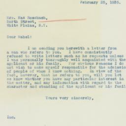 Letter : 1935 February 25