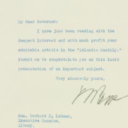 Letter : 1931 October 24