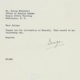 Letter : 1952 April 14