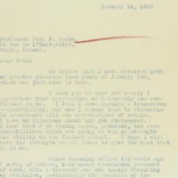 Letter : 1933 January 14