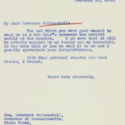 Letter : 1940 February 20