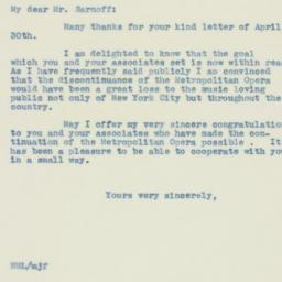 Letter : 1940 May 2