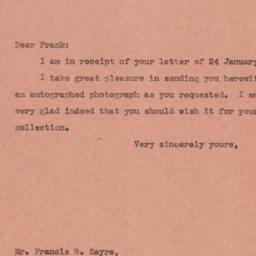Letter : 1945 January 29