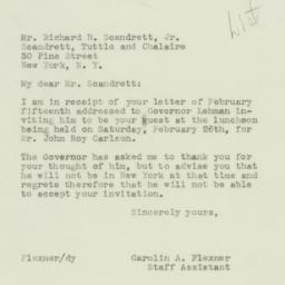 Letter : 1944 February 21
