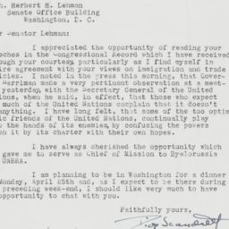 Letter : 1955 March 29