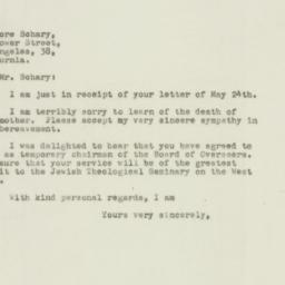 Letter : 1948 May 31