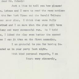 Letter : 1958 January 31