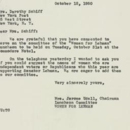 Letter : 1950 October 12