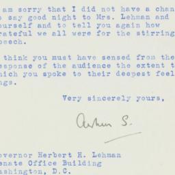 Letter : 1954 January 26