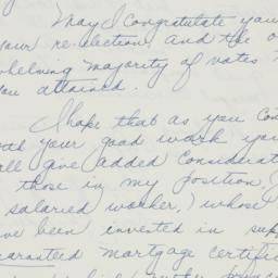 Letter : 1936 November 7