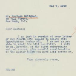 Letter : 1942 May 7