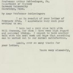 Letter : 1953 February 28