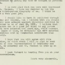 Letter : 1953 April 18