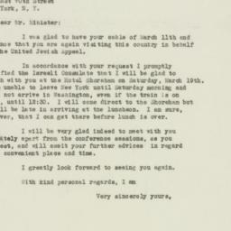 Letter : 1949 March 15