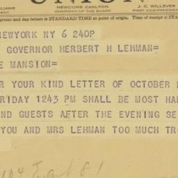 Telegram : 1942 October 6