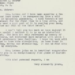 Letter : 1961 March 15