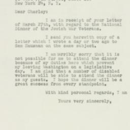 Letter : 1950 April 1