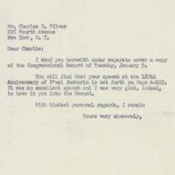 Letter : 1951 January 13