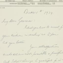 Letter : 1934 March 1