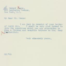 Letter: 1934 April 11