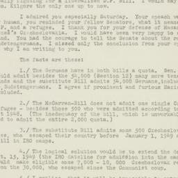 Letter : 1950 March 6