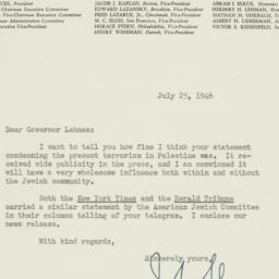 Letter : 1946 July 25
